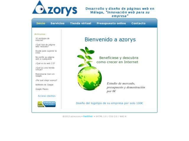 Web development in Malaga, azorys.
