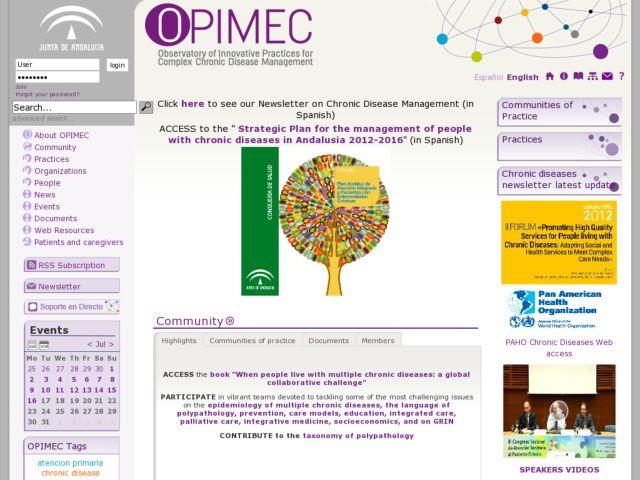 screenshot of OPIMEC