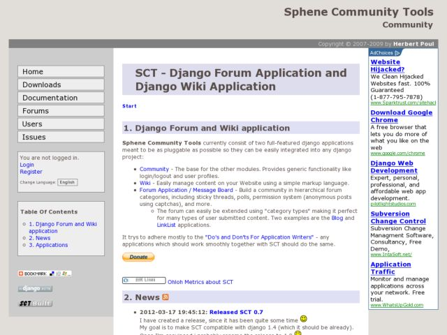 screenshot of Sphene Community Tools