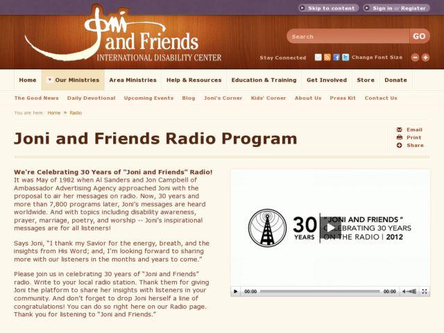 Joni and Friends Radio