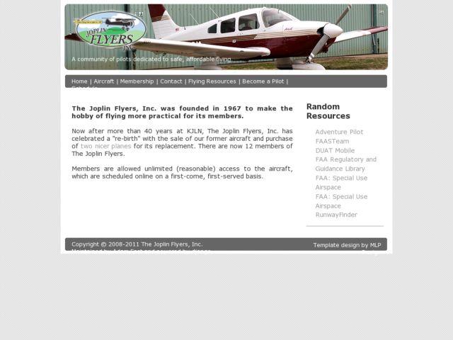 The Joplin Flyers Flying Club