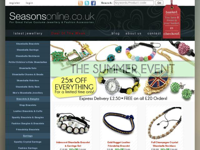 screenshot of Seasons Online