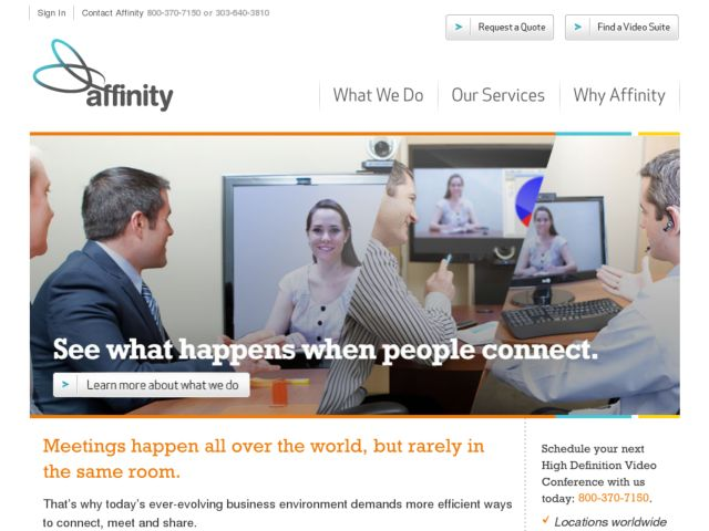 screenshot of Affinity Video