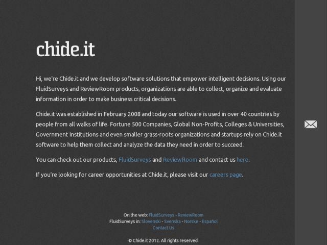 Chide.it - We Make Internet Applications