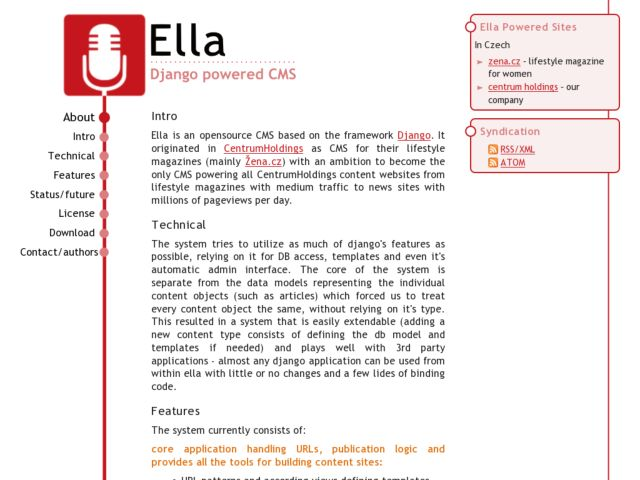 screenshot of Ella Project