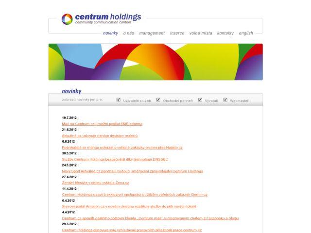 screenshot of CentrumHoldings