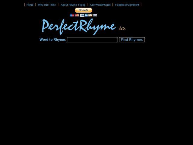 PerfectRhyme.com