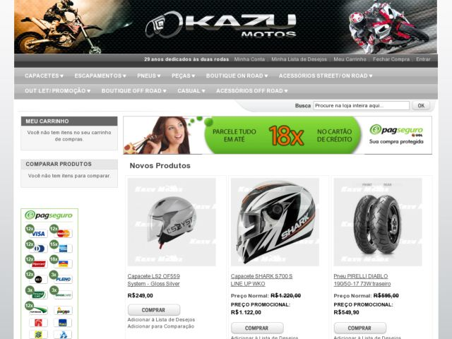 screenshot of Kazu Bikes
