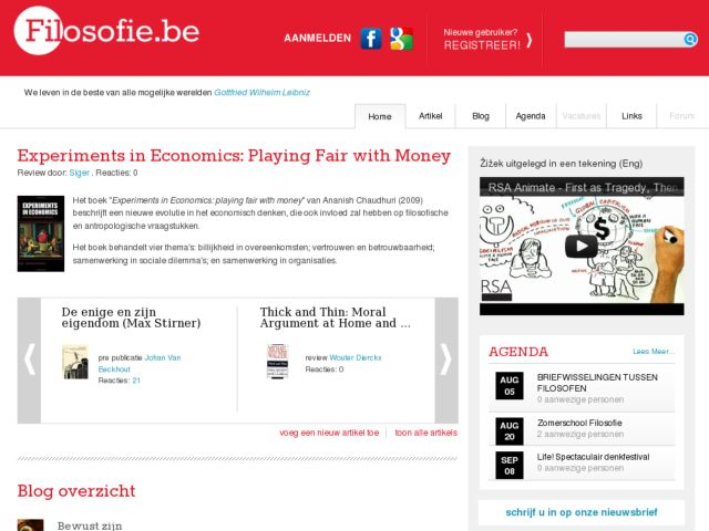 screenshot of filosofie.be