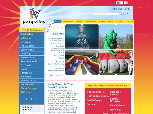 screenshot of Party Vision