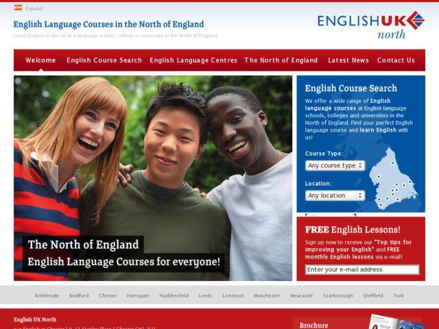 screenshot of English UK North