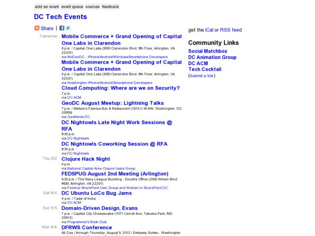 DC Tech Events Weekly