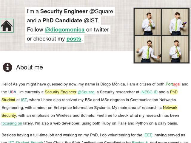 Diogo Mónica's Personal Webpage