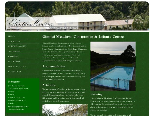 screenshot of Glentui Meadows - Conference & Leisure Centre