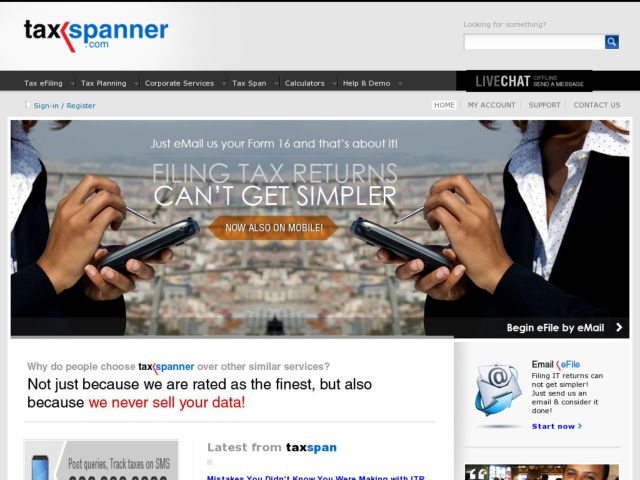 TaxSpanner: Online Income Tax Returns for India