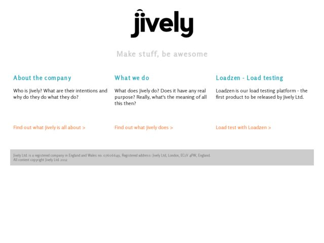 screenshot of Jively