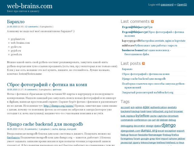 Web brains blog