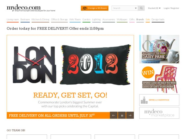 screenshot of mydeco.com