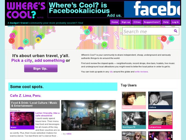 screenshot of Where's Cool?