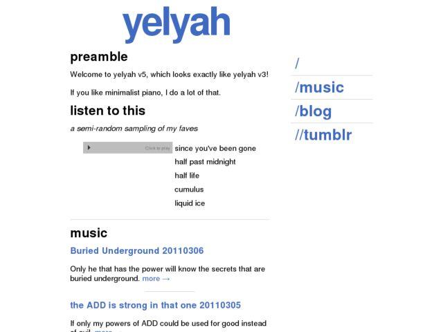 screenshot of yelyah - music