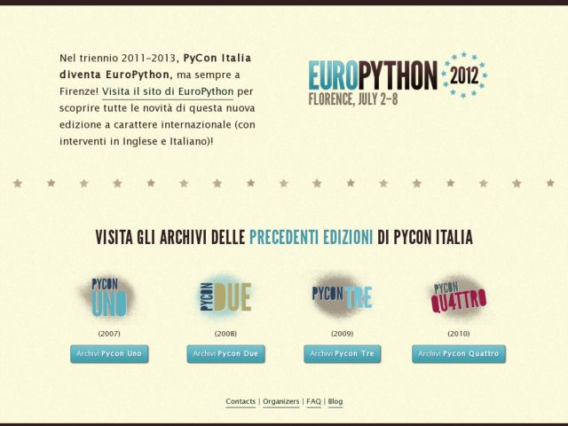 screenshot of PyCon Italy