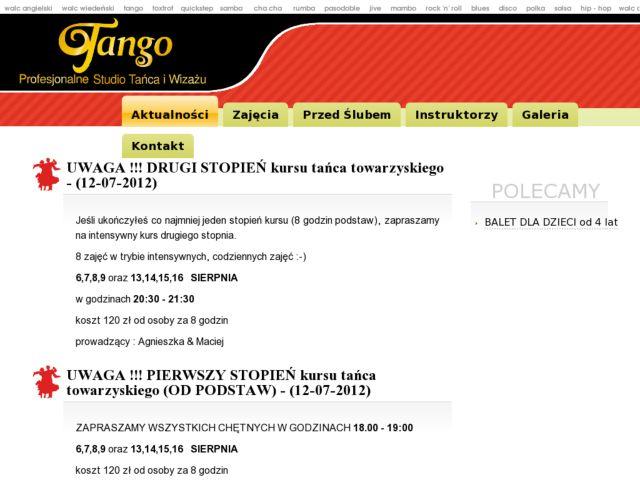 Tango - dance school in Gdynia