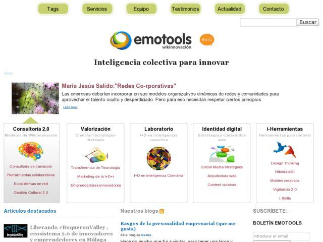 screenshot of Emotools: Consulting company