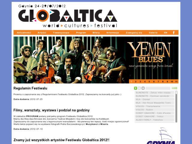 screenshot of Globaltica World Music Festival