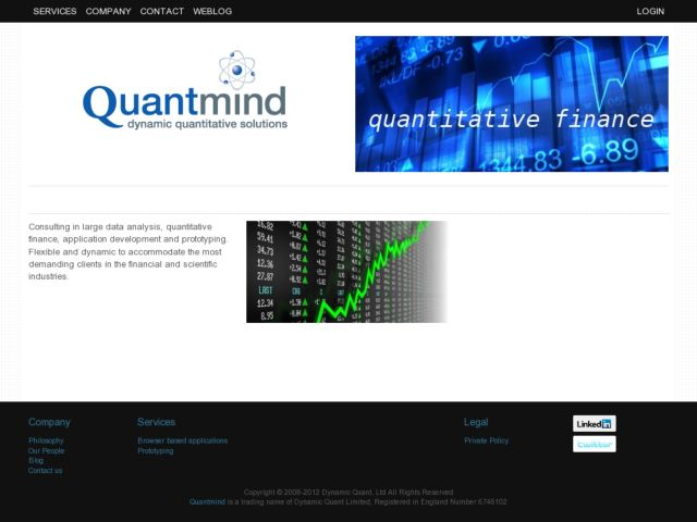 screenshot of quantmind