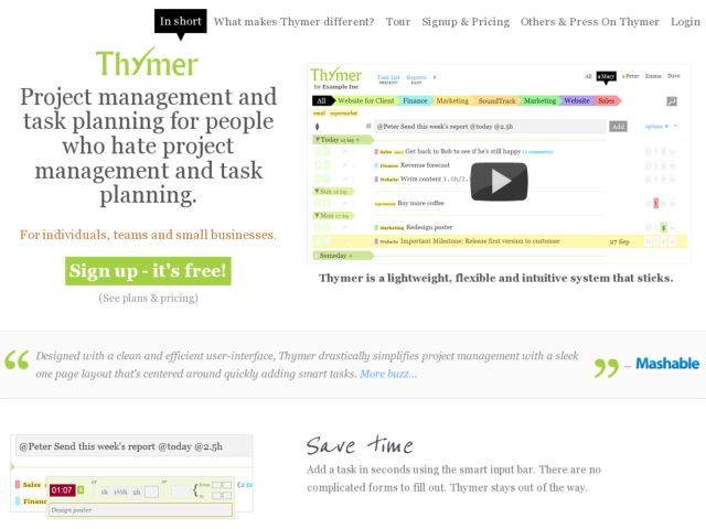 Thymer - Super easy Planning, Task and Project Management