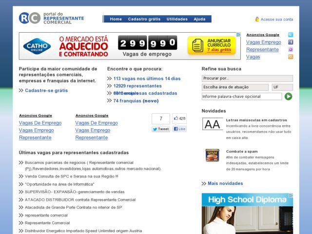 screenshot of Portal do Representante