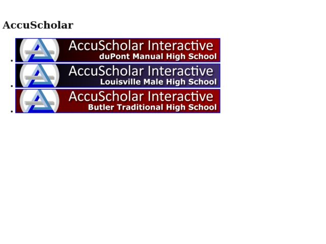 screenshot of AccuScholar