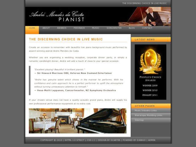 screenshot of Andre Mendes da Costa - Pianist
