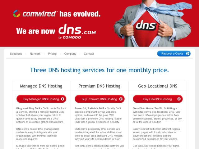 Comwired Managed DNS Solution