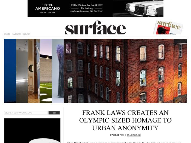 screenshot of Surface Magazine