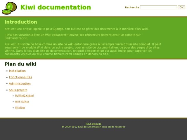 screenshot of Kiwi