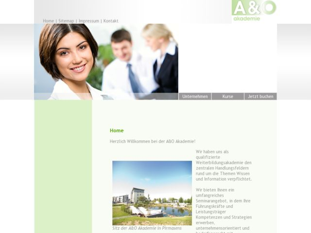 screenshot of A&O Academy