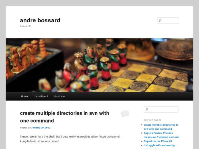 screenshot of Andre Bossard, Web CV