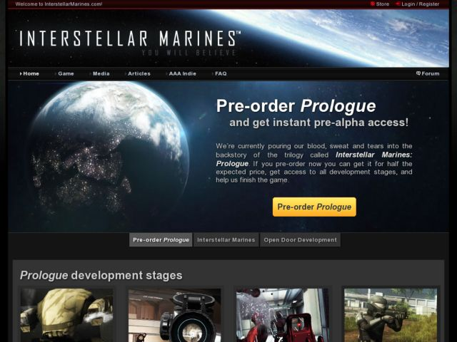 screenshot of Interstellar Marines / AAA-indie