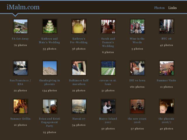 screenshot of imalm.com