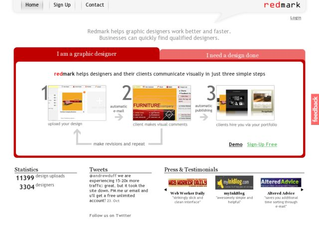 screenshot of Redmark