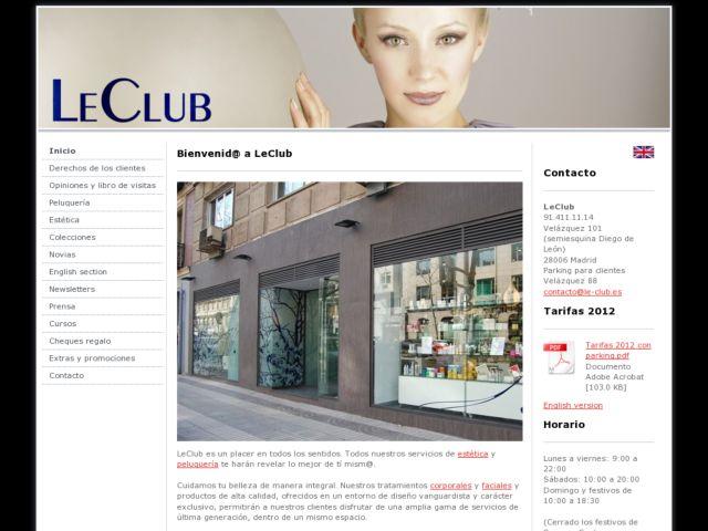screenshot of Le Club