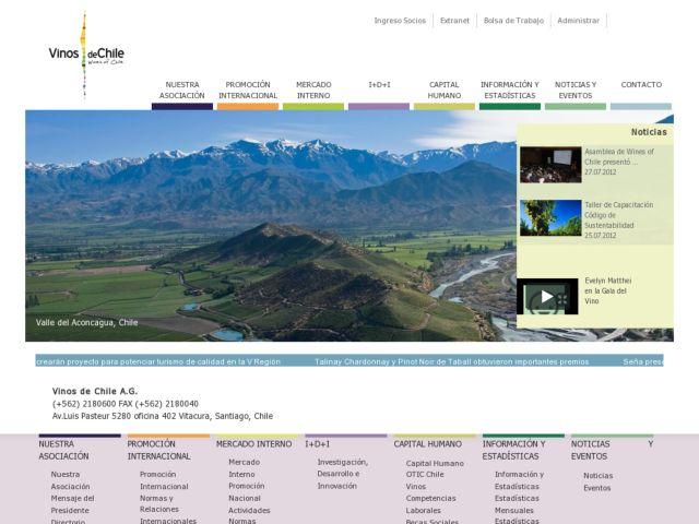 screenshot of Vinos de Chile