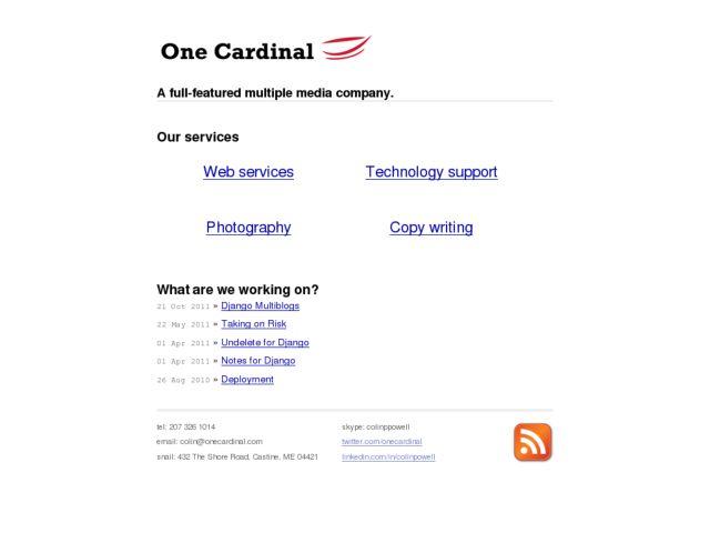 screenshot of One Cardinal