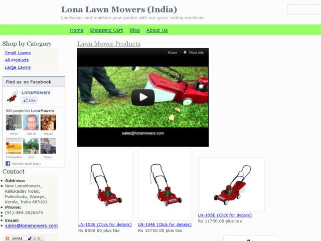 screenshot of Lona Lawn Mowers