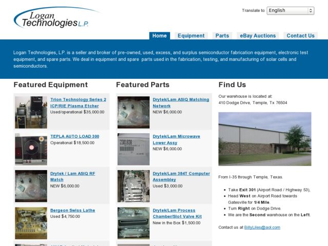 screenshot of Logan Technologies