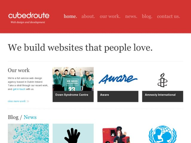 Cubedroute: Webdesign and Development Ireland