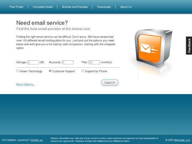 screenshot of Email Service Guide