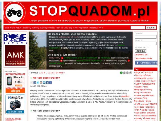 screenshot of Stop ATVs