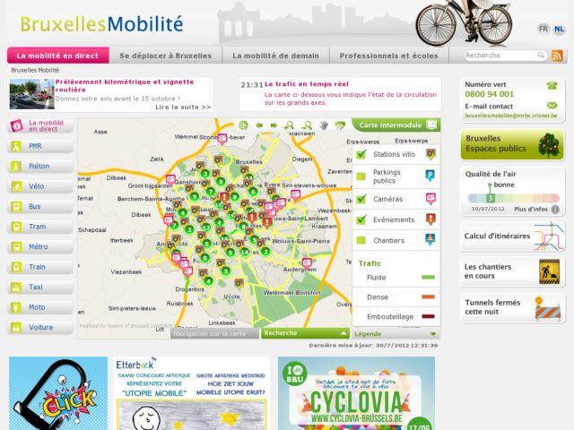 screenshot of Bruxelles Mobilité